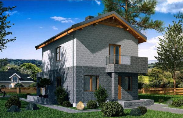 проект дома из теплоблока SDn 511 8