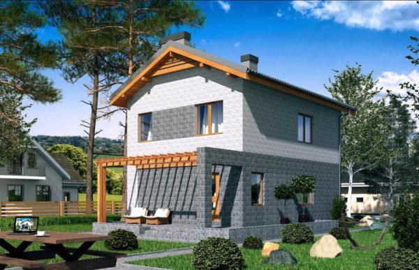 проект дома из теплоблока SDn 511 9