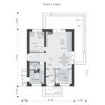 проект дома из теплоблока SDn-512 1