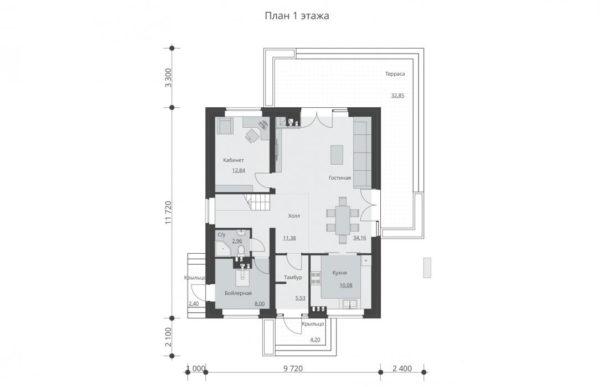 проект дома из теплоблока SDn 512 1