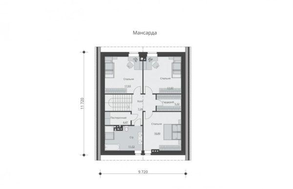 проект дома из теплоблока SDn 512 6