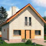 проект дома из теплоблока SDn-512 7