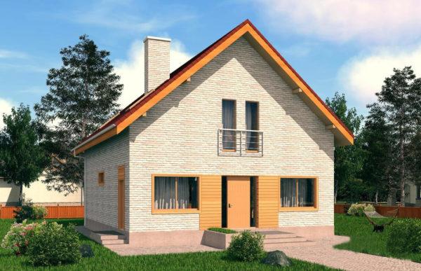 проект дома из теплоблока SDn 512 7