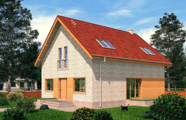 проект дома из теплоблока SDn 512 8