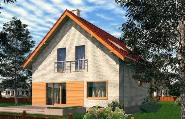 проект дома из теплоблока SDn 512 9