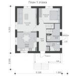 проект дома из теплоблока SDn-513 1