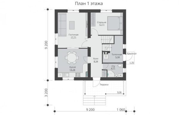проект дома из теплоблока SDn 513 1
