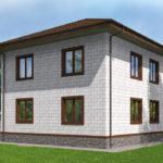 проект дома из теплоблока SDn-513 10