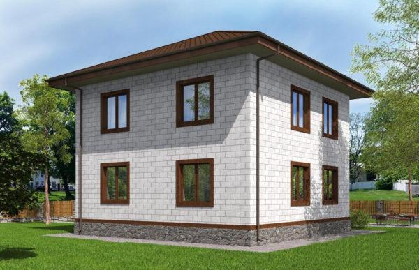 проект дома из теплоблока SDn 513 10