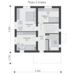 проект дома из теплоблока SDn-513 2