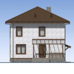 проект дома из теплоблока SDn-513 3