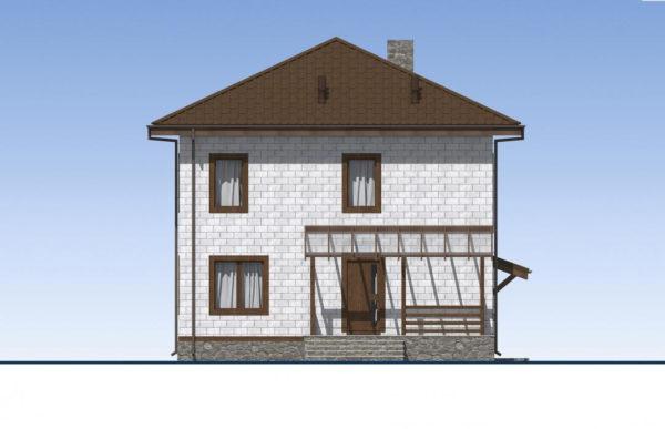 проект дома из теплоблока SDn 513 3