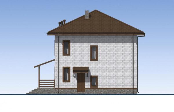 проект дома из теплоблока SDn 513 4