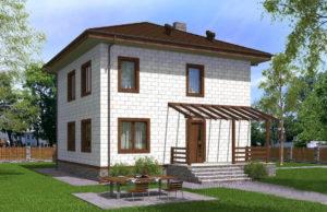проект дома из теплоблока SDn 513 7
