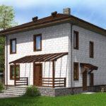 проект дома из теплоблока SDn-513 8