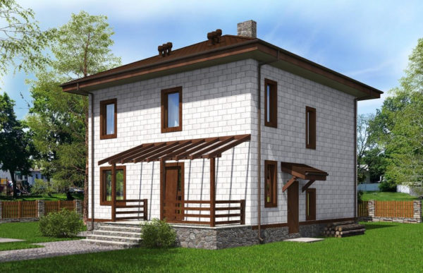проект дома из теплоблока SDn 513 8
