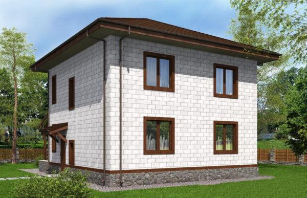 проект дома из теплоблока SDn 513 9