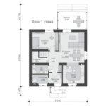 проект дома из теплоблока SDn-515 1