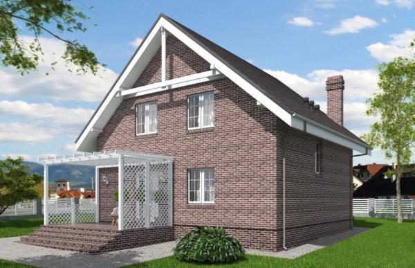проект дома из теплоблока SDn 515 10