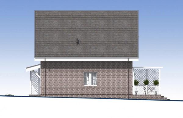 проект дома из теплоблока SDn 515 3