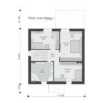 проект дома из теплоблока SDn-515 6