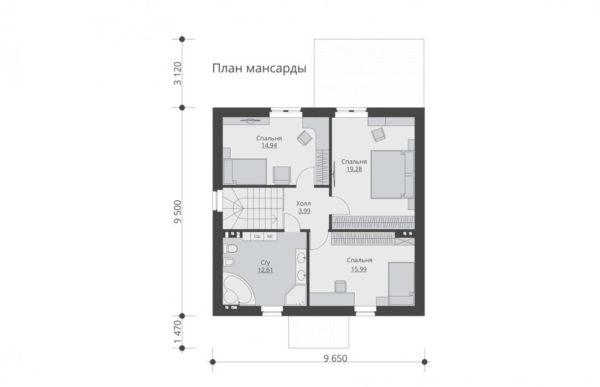 проект дома из теплоблока SDn 515 6