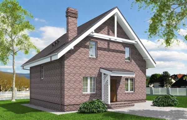 проект дома из теплоблока SDn 515 7