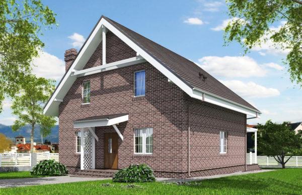 проект дома из теплоблока SDn 515 8