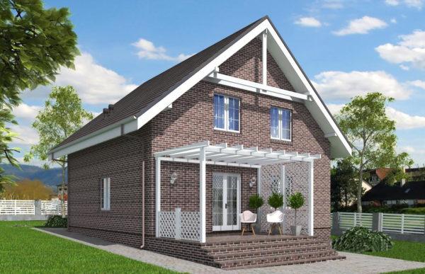 проект дома из теплоблока SDn 515 9