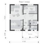 проект дома из теплоблока SDn-523 1