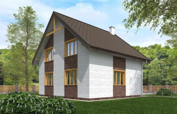 проект дома из теплоблока SDn 523 10