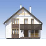 проект дома из теплоблока SDn-523 2