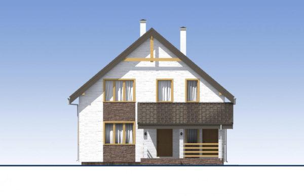 проект дома из теплоблока SDn 523 2