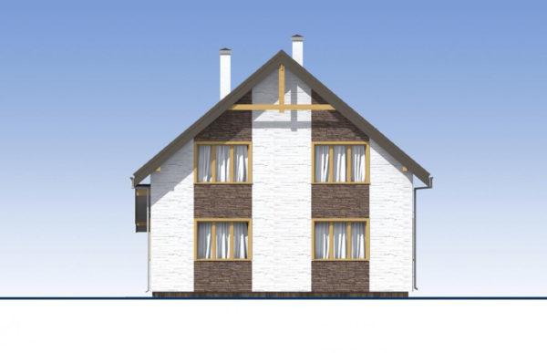 проект дома из теплоблока SDn 523 4