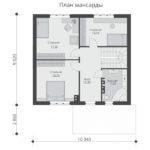 проект дома из теплоблока SDn-523 6