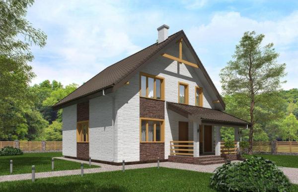 проект дома из теплоблока SDn 523 7