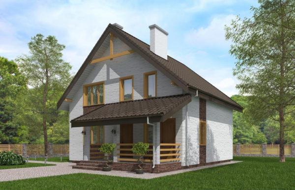 проект дома из теплоблока SDn 523 8