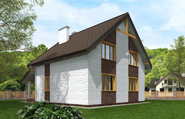 проект дома из теплоблока SDn 523 9