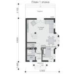проект дома из теплоблока SDn-527 1