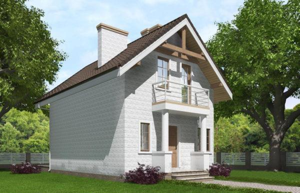 проект дома из теплоблока SDn 527 10