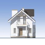 проект дома из теплоблока SDn-527 2