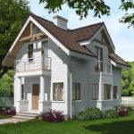 проект дома из теплоблока SDn-527 7
