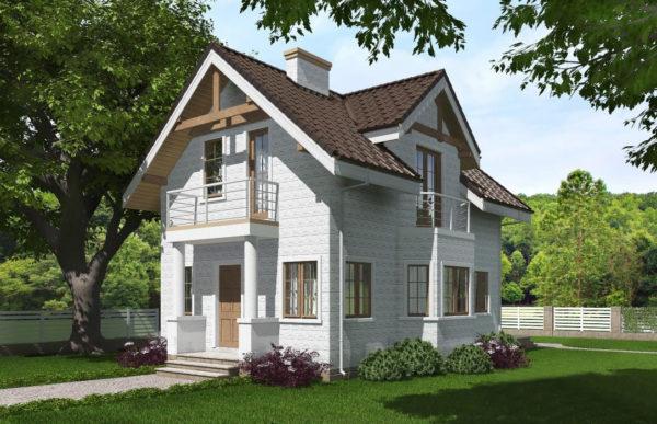 проект дома из теплоблока SDn 527 7