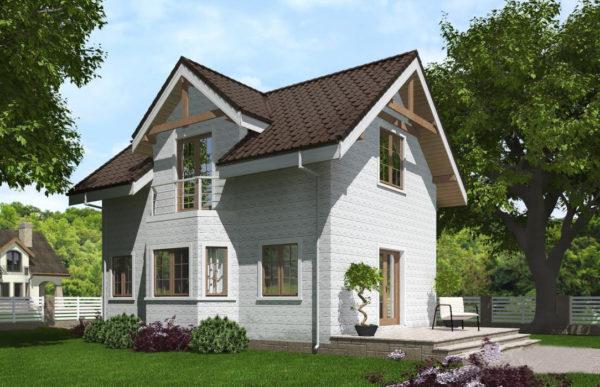 проект дома из теплоблока SDn 527 8