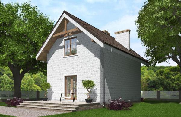проект дома из теплоблока SDn 527 9