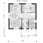 проект дома из теплоблока SDn-533 1