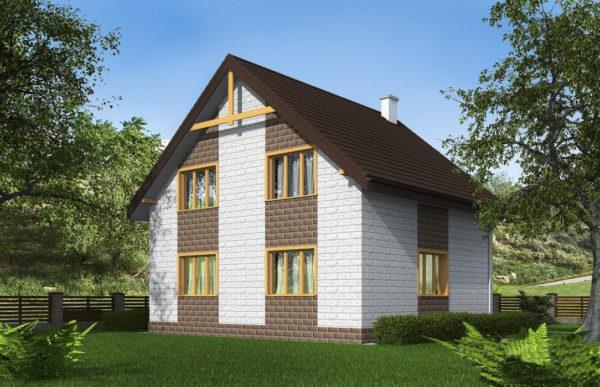проект дома из теплоблока SDn 533 10