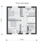 проект дома из теплоблока SDn-533 2