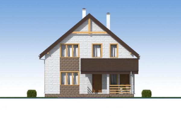проект дома из теплоблока SDn 533 3