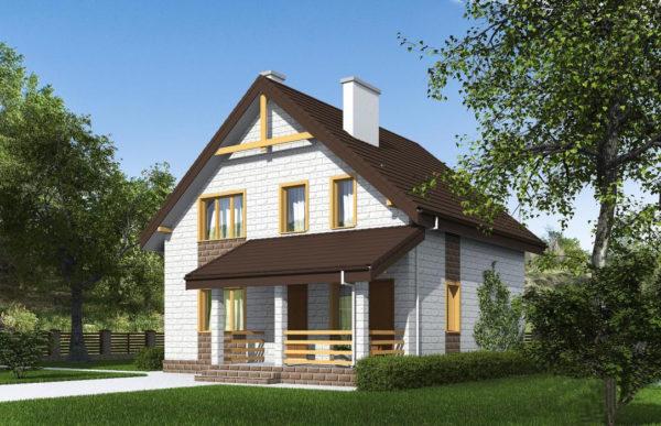 проект дома из теплоблока SDn 533 7
